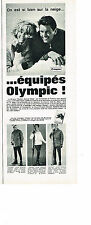 PUBLICITE ADVERTISING 014   1963   OLYMPIC   vetements de ski