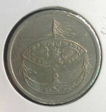 1995 Malaysia 50 sen nickel coin  very  High Grade! nice
