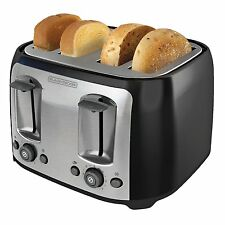 Four Slice Toaster Extra Wide Slots Bread Bagel Bun Waffle Kitchen Countertop