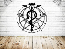 Wall Vinyl Sticker Decal Anime Manga FMA Fullmetal Alchimist Flamel Sign V032