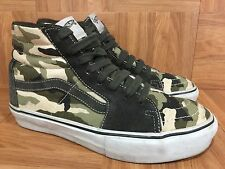 RARE�� VANS Sk8-Hi Camo Army Military Green Khaki Sz 7 Men's 8.5 Women's Cool!