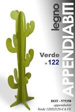 ALBERO APPENDIABITI CACTUS H122 LEGNO ATTACCAPANNI MODERNO VERDE 575358
