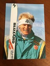 Peter Muller -  World cup alpine ski racer hand signed post card.