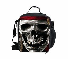 New Skull Boy Cooler Thermal Waterproof Lunch Bag Box Container Picnic Women Men