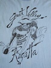 Vintage Great Valley Regatta Fireman River Canoe Firefighter 1984 Thin T Shirt S