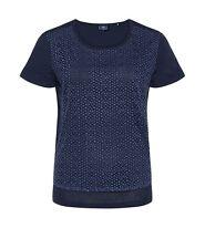 BOGNER JEANS Damen T-Shirt blau, Size: S   *WOW* 8281 1029 550