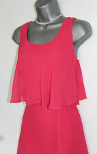 MONSOON Pink Tulip Style Embellished Layers Cocktail Party Tunic Dress UK 12