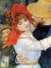 PIERRE AUGUSTE RENOIR DANCE IN BOUGIVAL DETAIL OLD ART PAINTING PRINT 2398OMA
