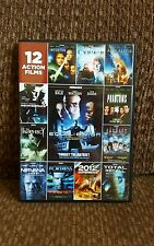 Dvd 12 Action Films 3 dvd set incl Equilibrium and more!! Like new!