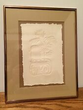 Susan Zythewick Limited Edition Embossing on Paper 41/350 Framed 11 x 14