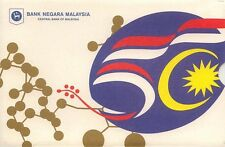 Malaysia RM50 50th Independence Commemorative  Note with Folder  UNC 2et R/N