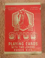 STUD Playing Cards1 Red deck Poker size Deerfield Illinois  Rare 4 jokers L6217