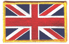 UNITED KINGDOM FLAG w/GOLD BORDER-Union Jack,Great Britain,England-Iron On Patch
