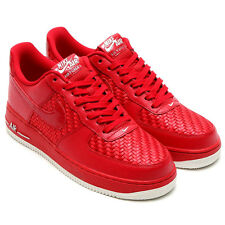 NIKE AIR FORCE 1 07 LV8 SZ 9 WOVEN GYM RED SUMMIT WHITE AF1 718152-605