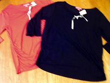 Lot/2 -Liz Lange Maternity -Two Maternity Tops-1 Black/1 Red-Rayon - Size Med