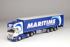 Tekno Maritime Scania R-Series Topline with Curtainside Trailer