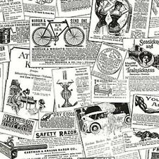 Black and White Old News Print Ads Advertising Wallpaper - BK32083