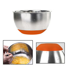 Skid Mixing Bowls - 1 piece Stainless Steel Mixing Bowl with Rubber Bottom