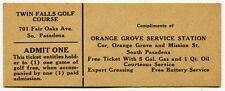 Old Gas Station Giveaway Ticket: One Free Golf Game [South Pasadena, Calif]