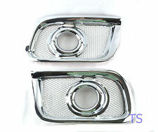 Chrome Cover Fog Lamps Spot Lights Intake Fit Toyota Hiace Commuter Suv 05 06 08