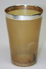 RARE 19TH CENTURY Louis Dee LONDON ENGLAND STERLING SILVER HORN BEAKER CUP