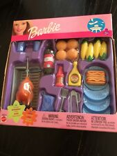Lot Of  New Mattel Barbie Fashion Av. Food Barbecue Hot Dog Corn Brand New