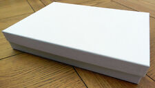 A4 Gift Box Any Occasion Plain White Linen with Lid 305x215x50 Sturdy Keepsake