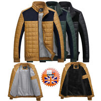 Slim Autumn Winter Men Padded Jacket Casual Coat Stitching Outwear
