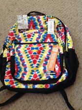 New Yak Pak Biggie Backpack.  Yellow, Blue, Red Tye Died Canvas. 6887