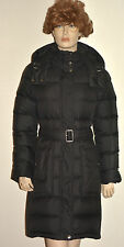 NWT BURBERRY BRIT WOMENS CHECK QUILTED PUFFER DOWN COAT JACKET WITH HOOD SZ L