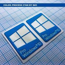 2 x Windows 10 Pro Sticker Aufkleber Luminoscent 250 minutes of self ilumination