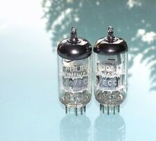 Pair Philips Miniwatt ECC88 / 6DJ8 Holland tubes NOS matched same code