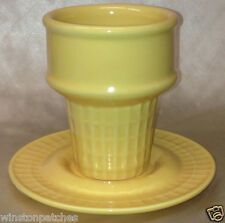 MONKEY & THE PEDDLER LIZ ROSS BIA YELLOW COLORED ICE CREAM CONE SUNDAE CUP 12 OZ