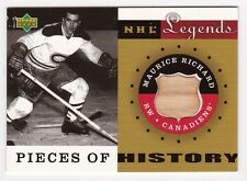 2001-02 Upper-Deck Legends Pieces of History Sticks Maurice Richard # PH-MR