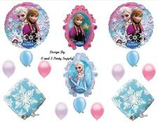 FROZEN SNOWFLAKE Disney HAPPY BIRTHDAY PARTY BALLOONS Decorations Supplies Olaf
