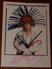 DAVID BAILEY ~ AUTHENTIC HAND SIGNED NPG EXHIBITION POSTCARD 2014 ~ ANNA PIAGGI