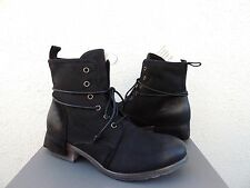 UGG COLLECTION TESA NERO BLACK LEATHER/ SHEARLING LINED BOOTS, US 8/ EUR 39 ~NIB