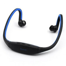 Sports Bluetooth Stereo Wireless Headset Earphone for Samsung iPhone LG Blue
