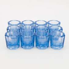 GLAGLASS DAPPEN DISH BLUE ACRYLIC HOLDER CONTAINER DENTAL COSMETOLOGY ART 12/PCS