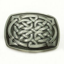 Celtic Metal Filled Belt Buckle Man For Black For Leather Belt Buckle