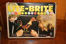 VINTAGE 1973 LITE BRITE   #5455 with Pegs & Picture Sheets Original Box