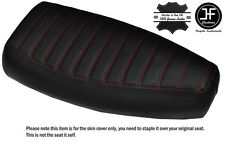 DESIGN 3 RED STITCH CUSTOM FITS PIAGGIO VESPA PX 125 DUAL LEATHER SEAT COVER