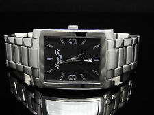 Kenneth Cole New York KC3989 Classic Rectangle Tank Silver Tone Men's Watch