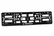 2x Black ABS  Number Plate Surrounds Holder Frame for RENAULT RR 2