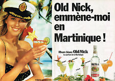 PUBLICITE ADVERTISING   1988   OLD NICK   rhum blanc ( 2 pages)