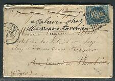 France - Enveloppe de Lyon pour Plombières et redirigée , 1859  réf F127