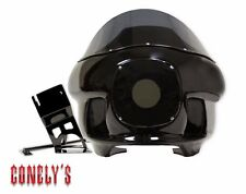 CONELYS FULL WRAP AROUND FXR FAIRING KIT HARLEY GEL COAT BLACK FXRT / FXRP