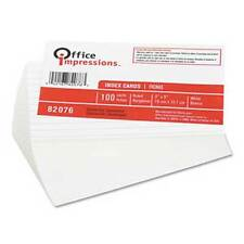Office Impressions Index Cards, Ruled, White, 3 x 5, 1000 ct, 10 Packs of 100