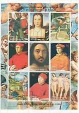 1998 ITALIAN HIGH RENAISSANCE PAINTER RAPHAEL OIL PAINTINGS MNH STAMP SHEETLET