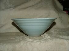 1970s Vintage Artisan Studio Hand Crafted ART POTTERY BOWL Light Powder Blue